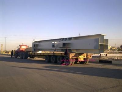 حمل سازه های فلزی - گروه: حمل سازه های فلزی - تصویر: سازه فلزیسازه فلزی به وزن 34 تن و طول 16 متر ترافیکی